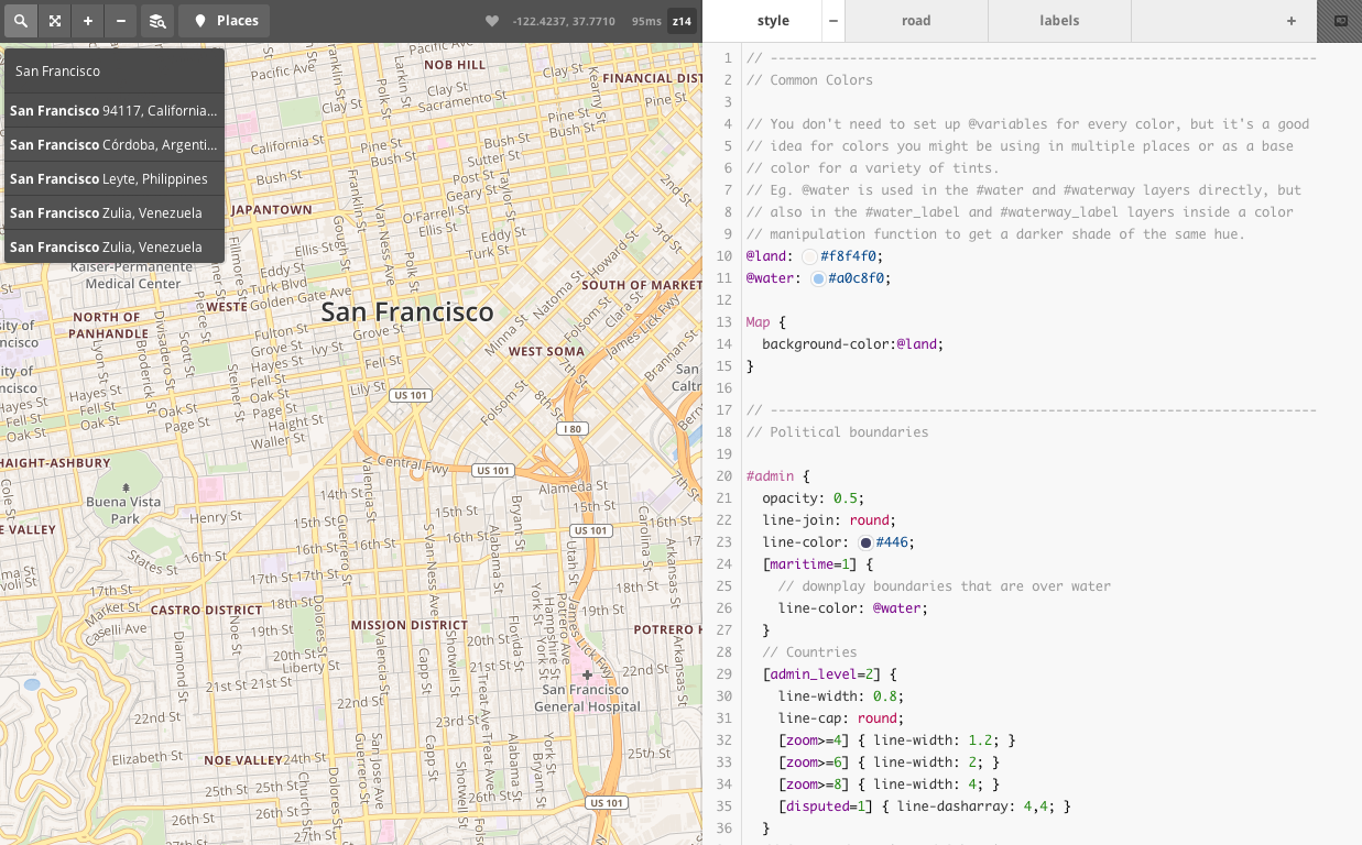 Mapbox Zoom